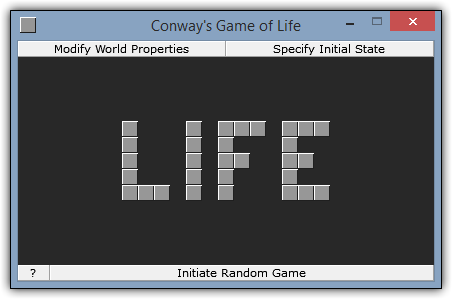 Screenshot of Conway's Game of Life