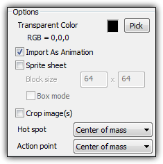 """Import as Animation"" checkbox in the Picture Editor"