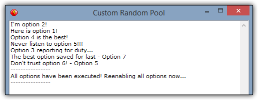 Screenshot for Creating Custom Random Pools in Multimedia Fusion 2 and Clickteam Fusion